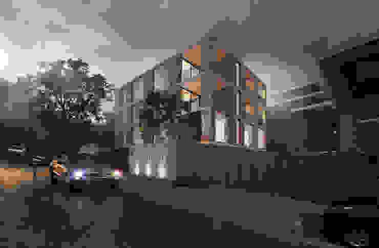 Kunst Architecture & Interiors Rumah keluarga besar Batu Bata