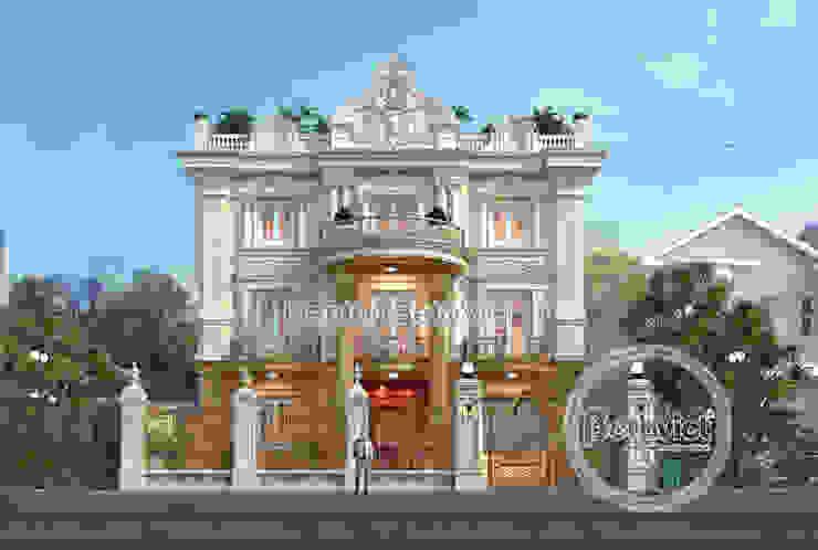 Phối cảnh mẫu biệt thự kiểu Pháp cổ điển 3 tầng ( CĐT: Ông Cương - Thanh Hóa) KT17071A bởi Công Ty CP Kiến Trúc và Xây Dựng Betaviet