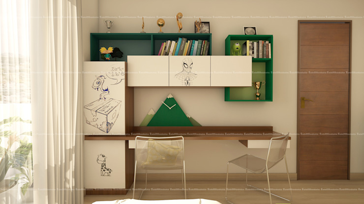 Kid's bedroom designs Modern study/office by Fabmodula Modern