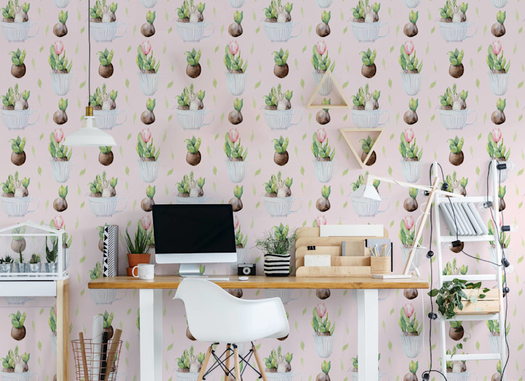 EASTER PLANTS Scandinavian style study/office by Pixers Scandinavian