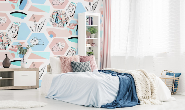 PASTEL EASTER Pixers Scandinavian style bedroom
