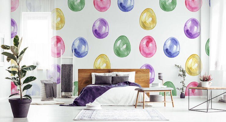 EASTER EGGS Pixers Scandinavian style bedroom Multicolored