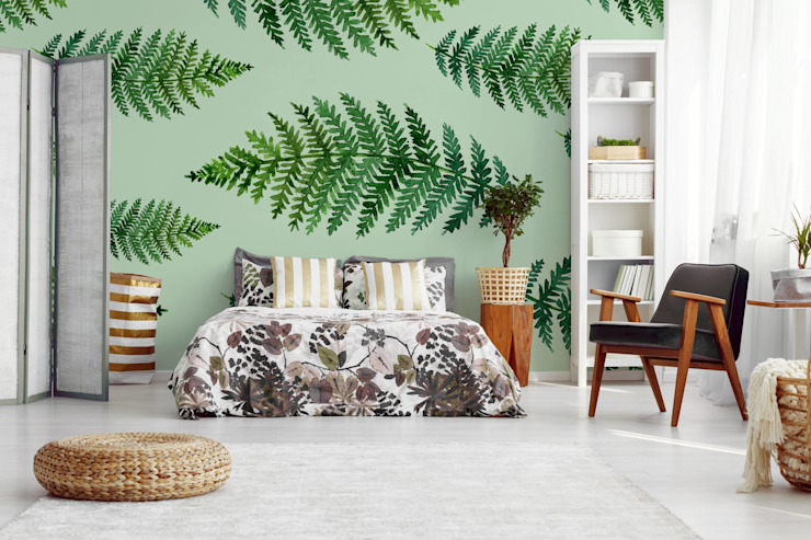 GREEN FERN IN THE BEDROOM Scandinavian style bedroom by Pixers Scandinavian