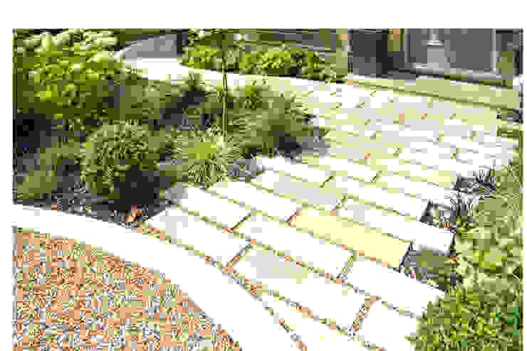 Shape and colour for a spacious front garden and driveway Kate Eyre Garden Design Modern garden
