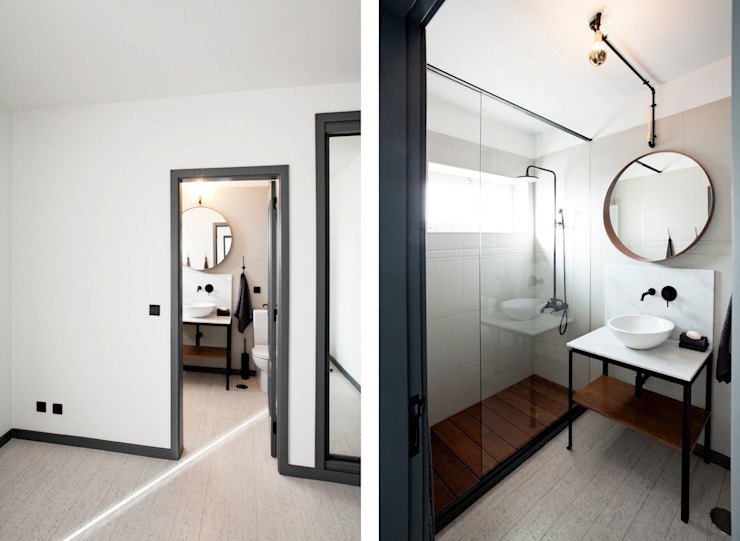 Apartamento EL.P - Remodelação A2OFFICE Casas de banho ecléticas