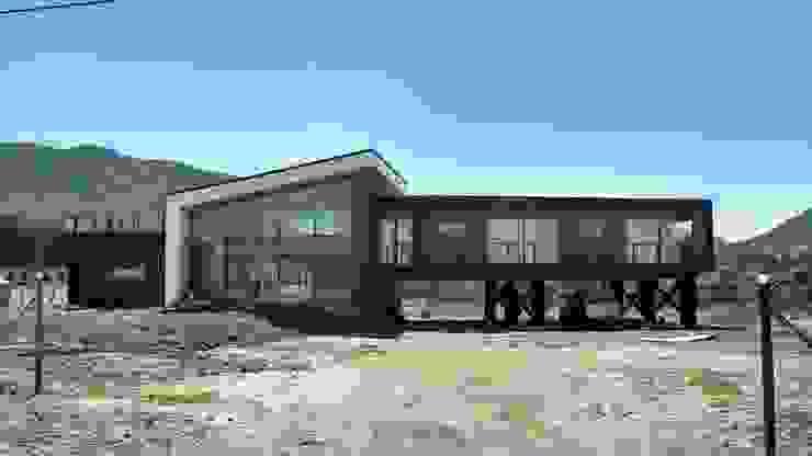 Casas modernas por Kimche Arquitectos Moderno Madeira Efeito de madeira