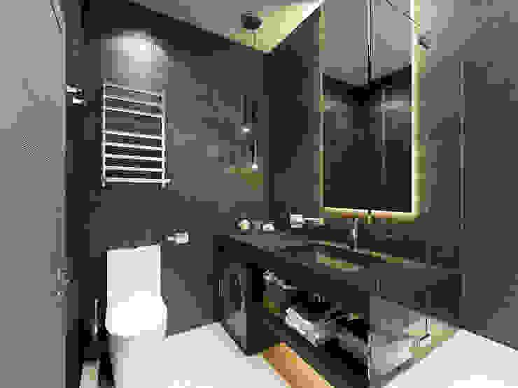 """3D-концепт, квартира в ЖК """"Легенда"""" Ванная комната в эклектичном стиле от Студия дизайна Дмитрия Артемьева 'Prosto Design' Эклектичный"""