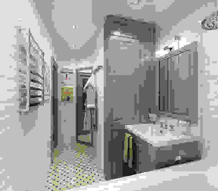 3D-концепт, квартира на Кондратьевском Ванная в классическом стиле от Студия дизайна Дмитрия Артемьева 'Prosto Design' Классический