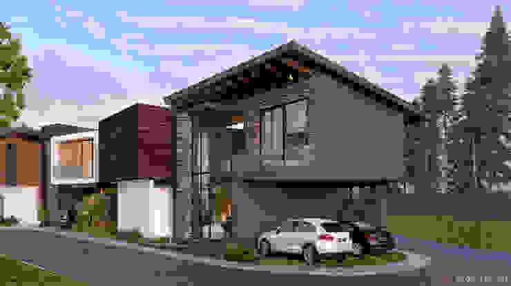 Casa Tepoya C8 | ARQUITECTOS Casas de campo Piedra Acabado en madera