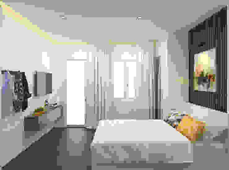 Tư Vấn Thiết Kế Thi Công Nhà Phố 3 Tầng Với Chi Phí 850 Triệu Phòng ngủ phong cách hiện đại bởi Công ty TNHH Xây Dựng TM – DV Song Phát Hiện đại