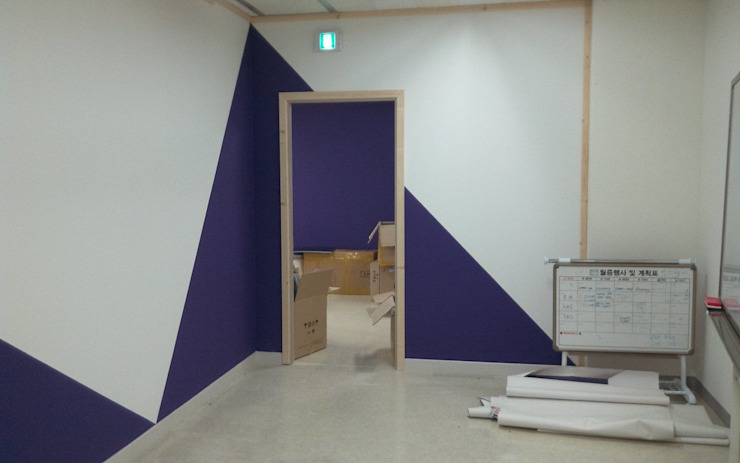 사무실 부서별 구획나누기 인테리어, 가벽 by 나무의 노래