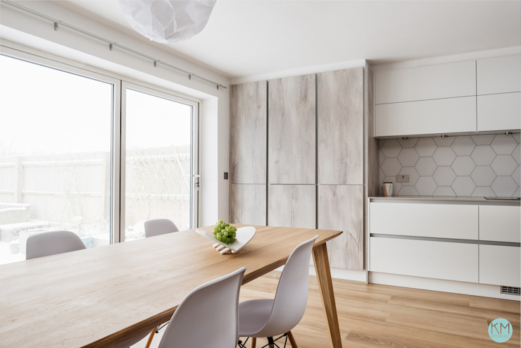 Scandinavian style kitchen and dining Katie Malik Interiors Scandinavian style kitchen