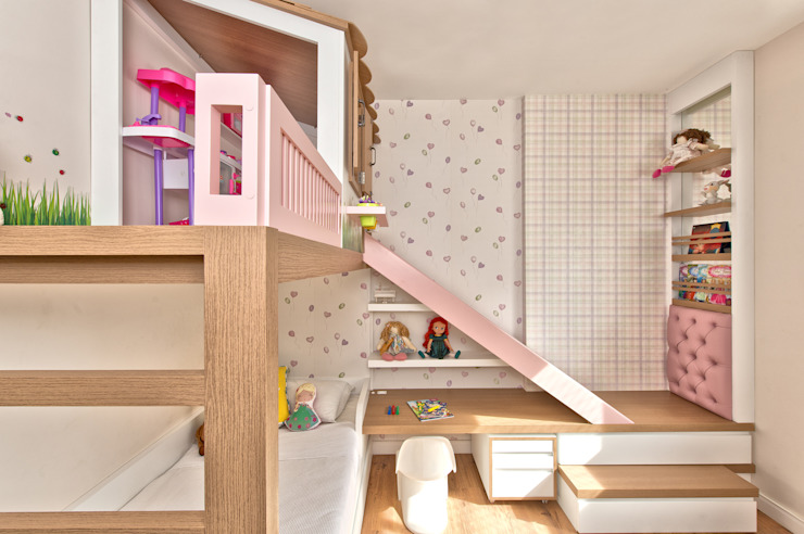 Espaço do Traço arquitetura Kamar tidur anak perempuan