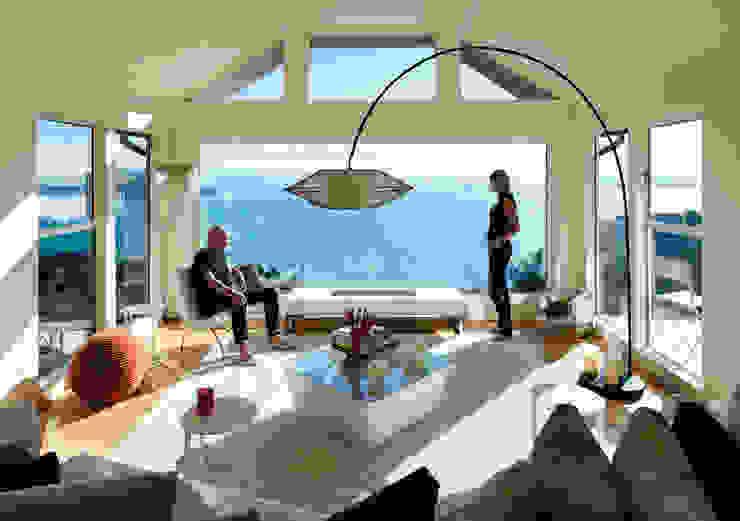 Sausalito Outlook Modern Living Room by Feldman Architecture Modern