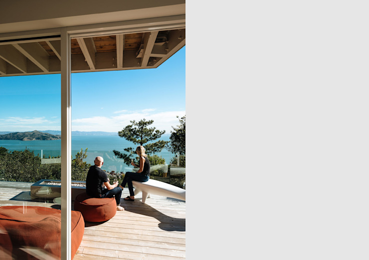 Sausalito Outlook Modern Terrace by Feldman Architecture Modern