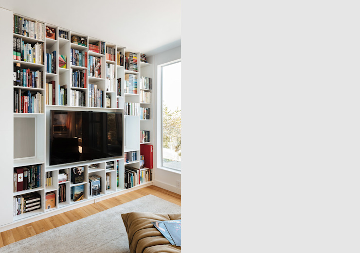 Sausalito Outlook Modern Media Room by Feldman Architecture Modern