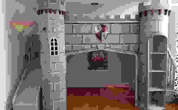 Fabuloso castillo medieval de Kids Wolrd- Recamaras Literas y Muebles para niños Clásico Derivados de madera Transparente
