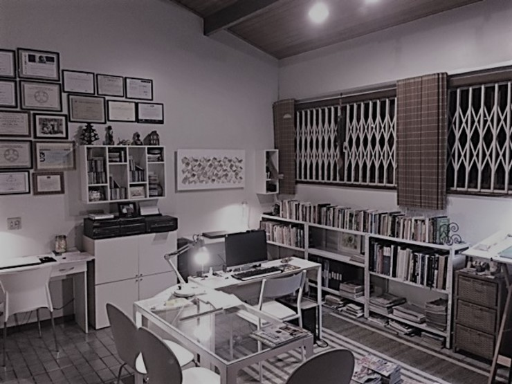 Eclectic style study/office by Cláudia Bertoche Arquitetura e Interiores Eclectic