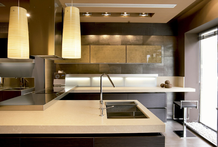modern  by POLİMER DECOR Mermer Masa  Mutfak Ve Banyo Tezgahları Uygulama Merkezi, Modern Quartz