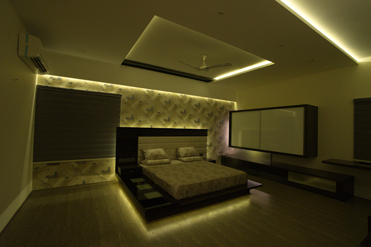 master bedroom Hasta architects Modern style bedroom