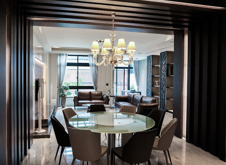 Eclectic style dining room by 沐築空間設計 Eclectic