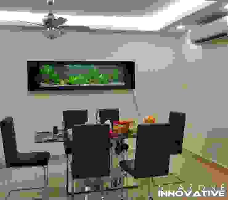 Crystal Black Wall Mounted Aquarium 7 feet Tropical style dining room by Seazone Innovative Sdn Bhd Tropical