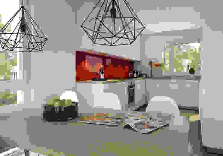 winhard 3D 現代廚房設計點子、靈感&圖片