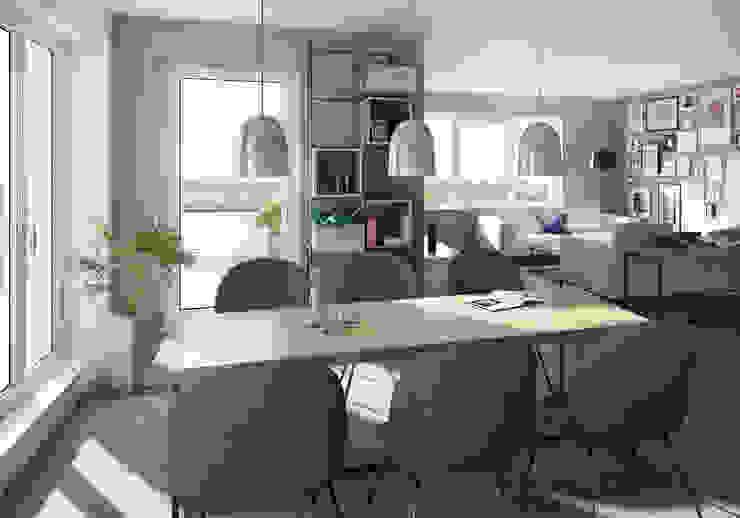 winhard 3D 现代客厅設計點子、靈感 & 圖片