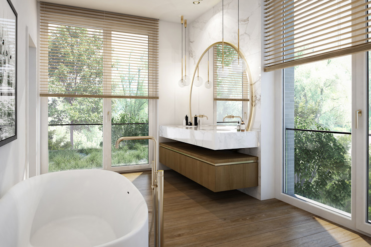 winhard 3D Baños de estilo moderno