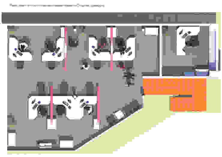 oficina comercial Chilquinta Viña del Mar IDEAfactory Oficinas y Comercios Contrachapado Amarillo