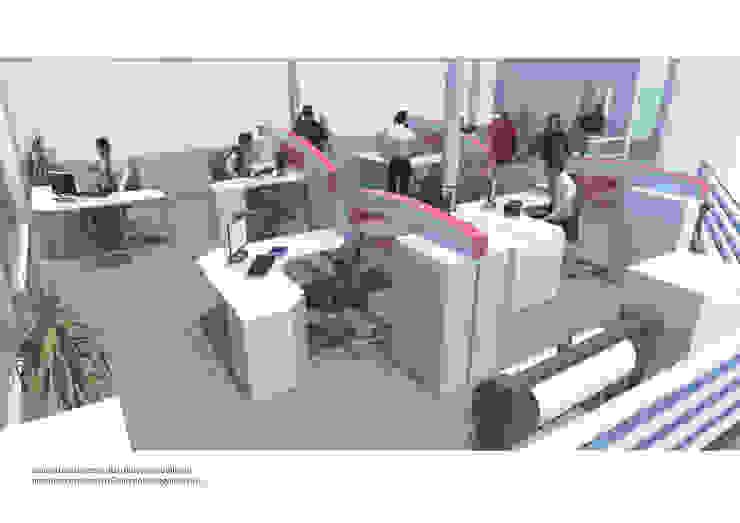 oficina comercial Chilquinta Viña del Mar IDEAfactory Oficinas y Comercios Contrachapado Blanco
