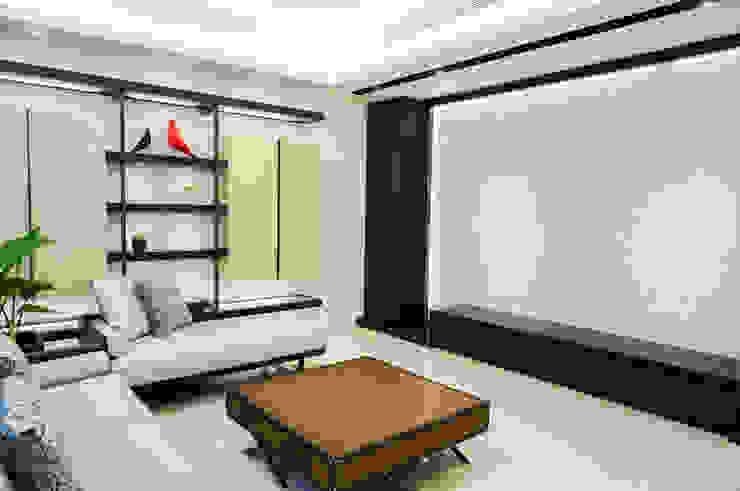住宅設計 / 張公館 现代客厅設計點子、靈感 & 圖片 根據 沐築空間設計 現代風