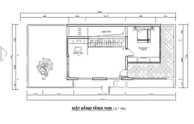 Bản vẽ tầng tum nhà phố 2 mặt tiền đẹp. bởi Công ty TNHH TK XD Song Phát Hiện đại Đồng / Đồng / Đồng thau