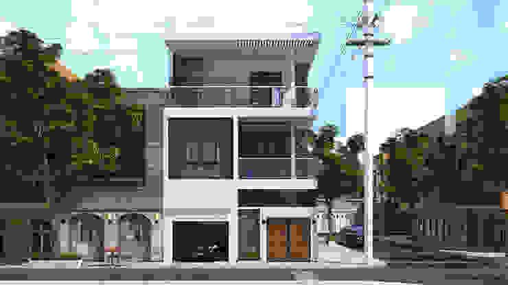 Nhà phố 2 mặt tiền đẹp hiện đại. bởi Công ty TNHH TK XD Song Phát Hiện đại Đồng / Đồng / Đồng thau