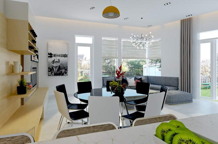 Modern Dining Room by Công ty TNHH TK XD Song Phát Modern Copper/Bronze/Brass