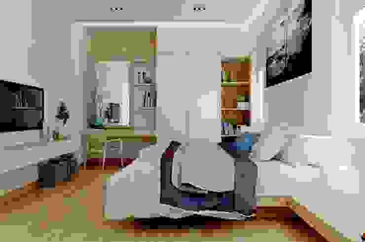 Góc nghiêng phòng ngủ của bố mẹ. Phòng ngủ phong cách hiện đại bởi Công ty TNHH TK XD Song Phát Hiện đại Đồng / Đồng / Đồng thau