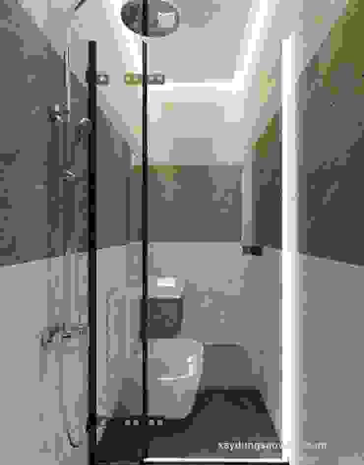 Nhà Phố 2 Mặt Tiền Đẹp Phong Cách Hiện Đại Tại Bình Chánh Phòng tắm phong cách hiện đại bởi Công ty TNHH TK XD Song Phát Hiện đại Đồng / Đồng / Đồng thau