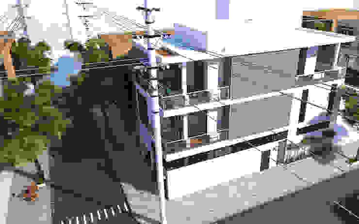 Nhà Phố 2 Mặt Tiền Đẹp Phong Cách Hiện Đại Tại Bình Chánh bởi Công ty TNHH TK XD Song Phát Hiện đại Đồng / Đồng / Đồng thau