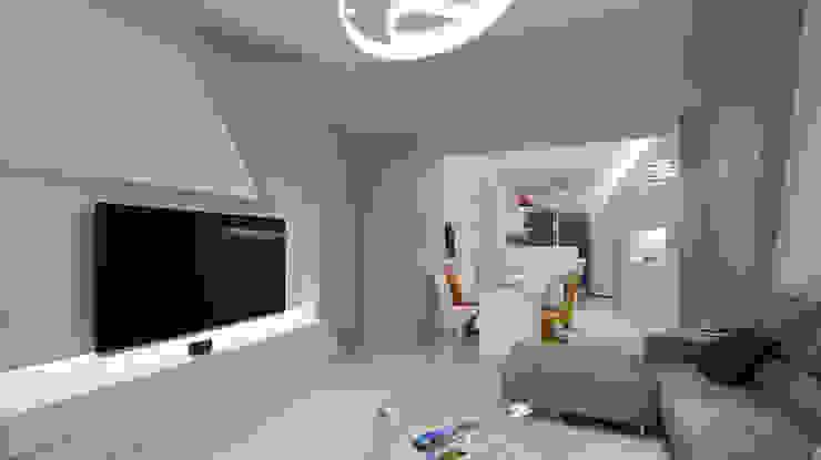 現代意象活力風 瓦悅設計有限公司 现代客厅設計點子、靈感 & 圖片