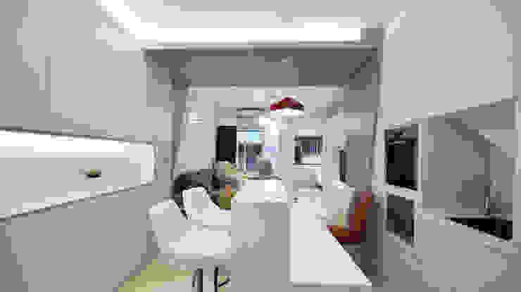 Sala da pranzo moderna di 瓦悅設計有限公司 Moderno