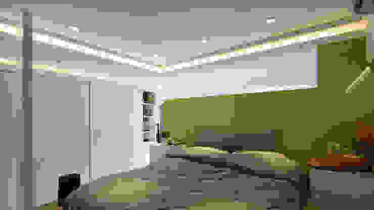 現代意象活力風 瓦悅設計有限公司 臥室