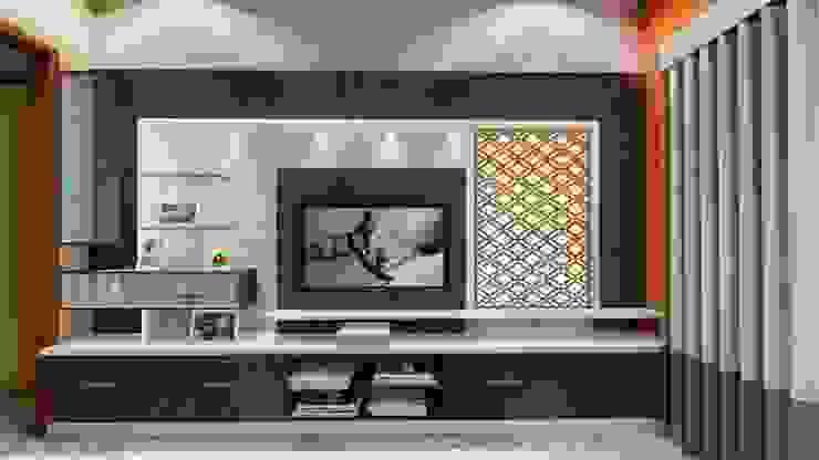 TV Unit: minimalist  by Cfolios Design And Construction Solutions Pvt Ltd,Minimalist