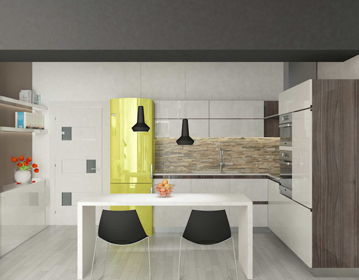 Cucina Dario Fabris Architetto Cucina moderna Pietra Beige