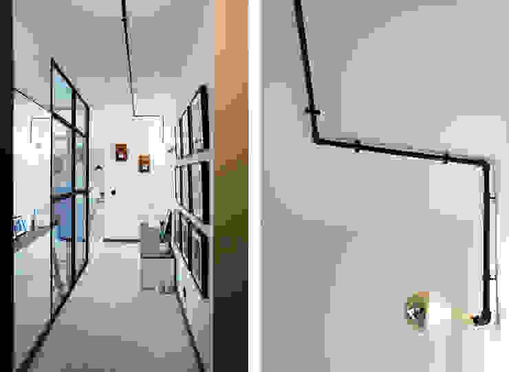 Apartamento EL.P - Remodelação A2OFFICE Corredores, halls e escadas industriais