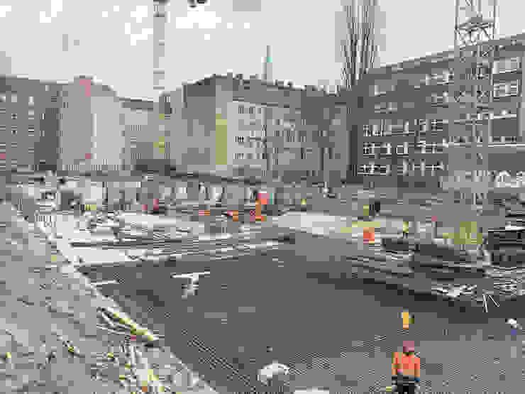 Wohnen am Leopoldplatz // Baufortschritt designyougo - architects and designers Mehrfamilienhaus Stahlbeton Weiß