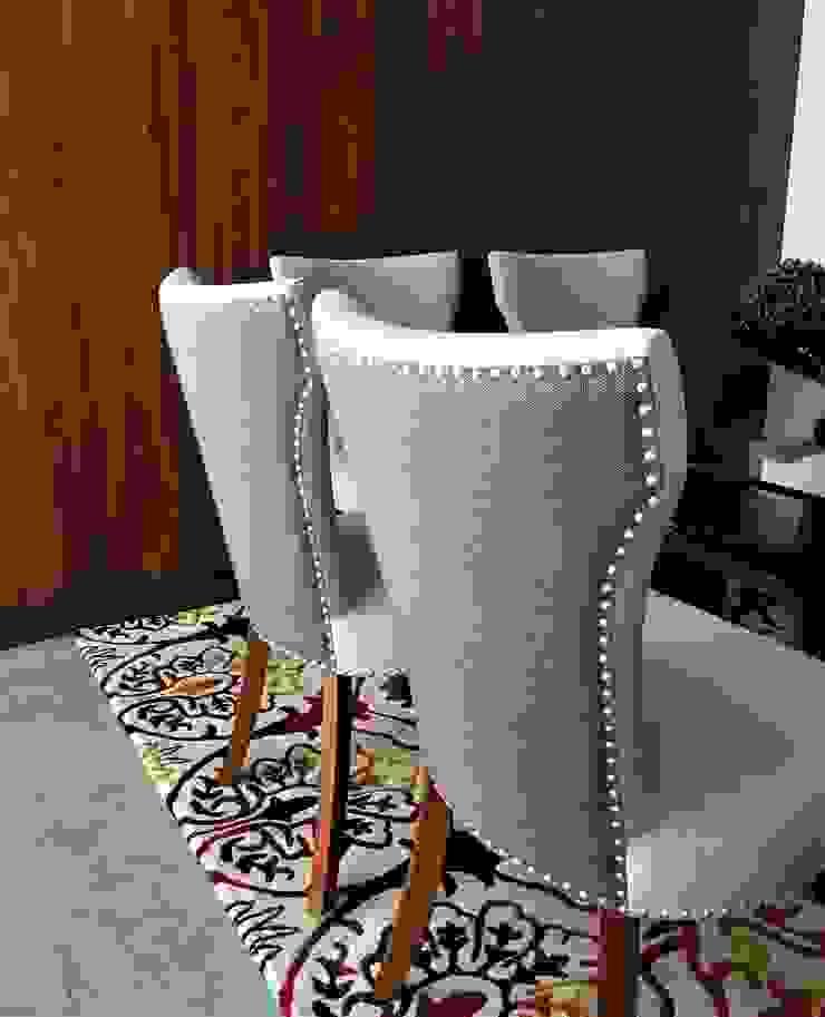 Cadeiras Taxas por Sgabello Interiores Moderno Algodão Vermelho
