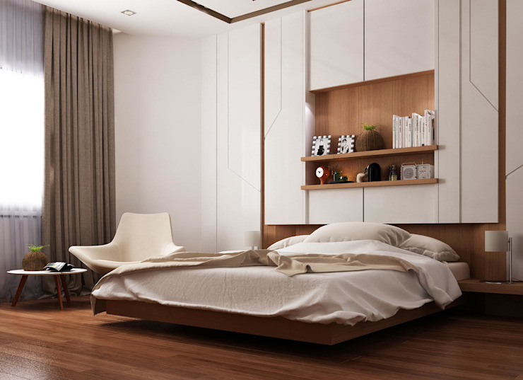 Ultra Modern Bedroom by TK Designs Modern Wood Wood effect