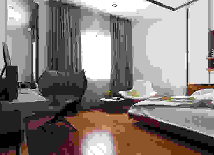 Ultra Modern Bedroom Modern Bedroom by TK Designs Modern Wood-Plastic Composite