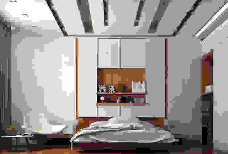 Ultra Modern Bedroom Modern Walls and Floors by TK Designs Modern MDF