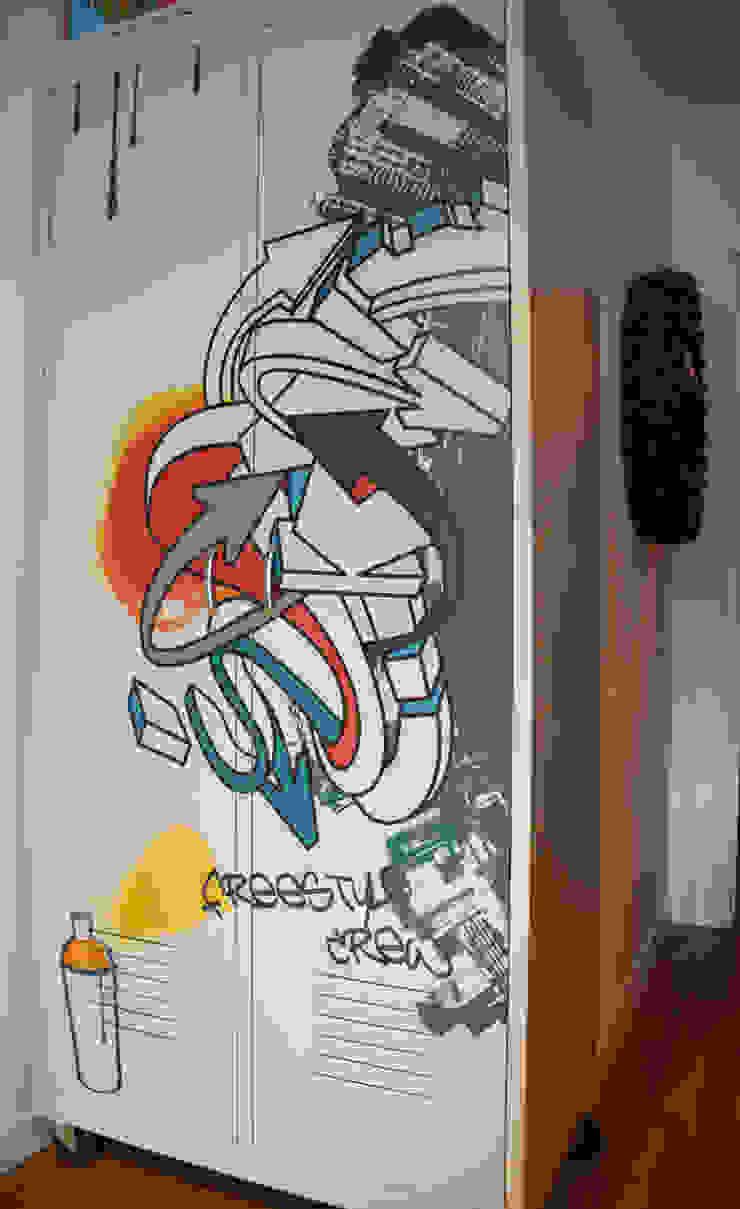 Décoration d'un appartement neuf à Lyon par Koya Architecture Intérieure Industriel Métal